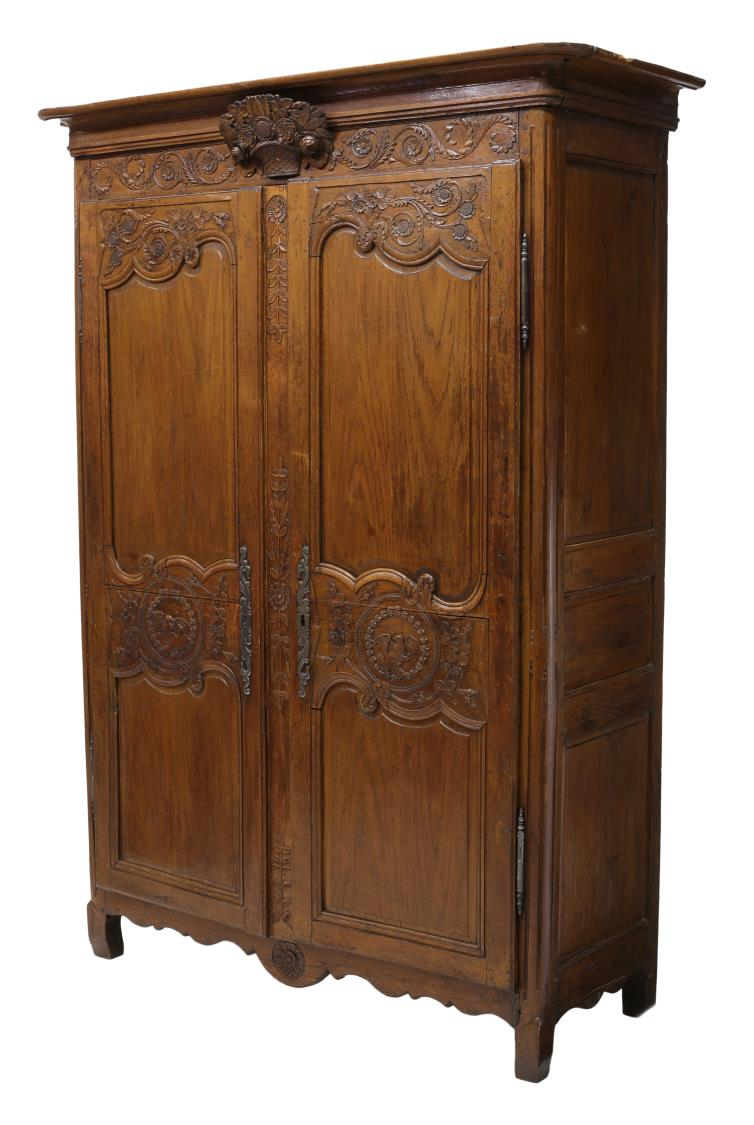 french louis xv style lovebird carved armoire june. Black Bedroom Furniture Sets. Home Design Ideas
