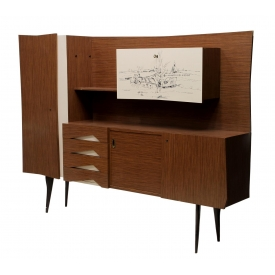 ITALIAN MID-CENTURY MODERN FORMICA FRONT SIDEBOARD