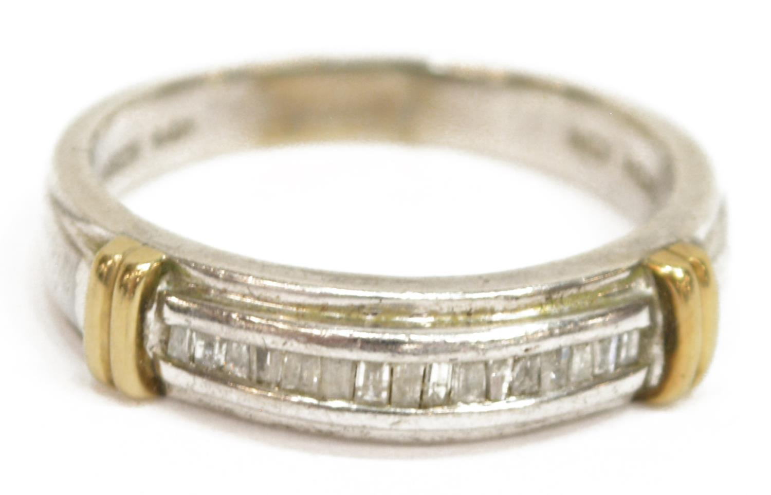GENTS 14KT GOLD Amp STERLING DIAMOND WEDDING BAND
