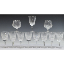 (11)WATERFORD LISMORE WATER GOBLETS & SNIFTERS