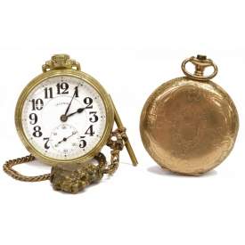 (2) ESTATE POCKET WATCHES ILLINOIS BUNN SPECIAL DR