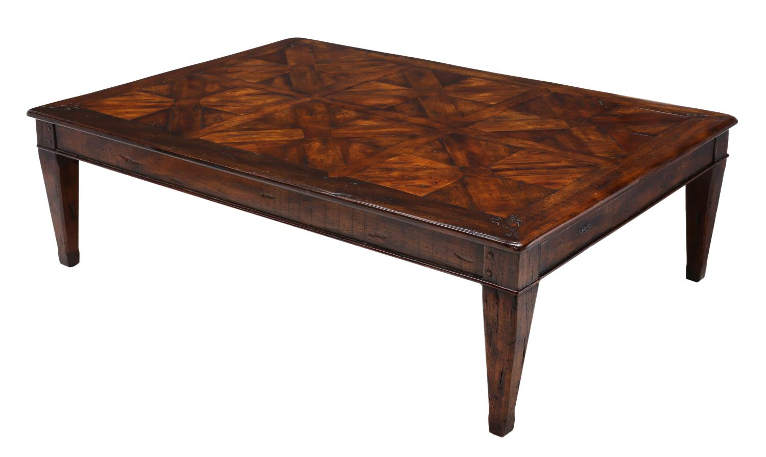 Large theodore alexander walnut coffee table august for Theodore alexander coffee table