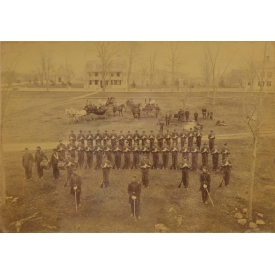 LARGE CIVIL WAR PHOTO, UNION SOLDIERS, NEW MILFORD