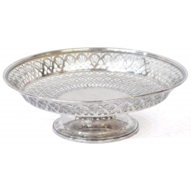 TIFFANY & COMPANY RETICULATED STERLING COMPOTE