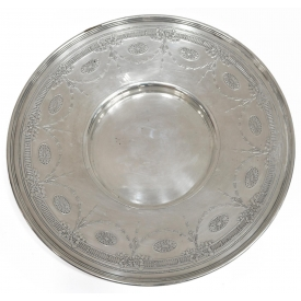 TIFFANY & COMPANY STERLING FLORAL SWAG LOW BOWL