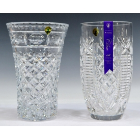 (2) LARGE WATERFORD CRYSTAL LEONORA & CLARE VASES