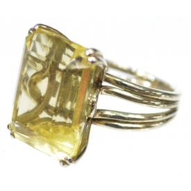 LADIES ESTATE 18KT GOLD & CITRINE COCKTAIL RING