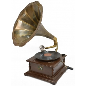 """HIS MASTERS VOICE"" WINDUP TABLE GRAMOPHONE"