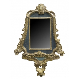 ANTIQUE VENETIAN STYLE GILTWOOD CARVD FRAME 19TH C