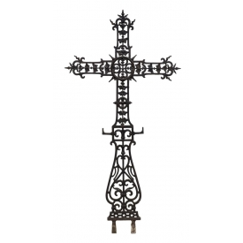 SPANISH CAST IRON PIERCED CROSS 19TH/20TH