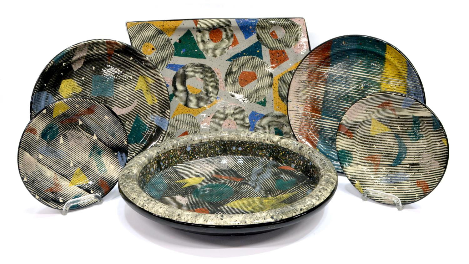 (6)CLAUDIA REESE CERA-MIX STUDIO CERAMIC TABLEWARE  sc 1 st  Austin Auction Gallery & 6)CLAUDIA REESE CERA-MIX STUDIO CERAMIC TABLEWARE - The Nassour ...