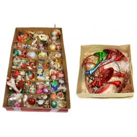 HUGE GROUP RADKO & OTHER CHRISTMAS ORNAMENTS