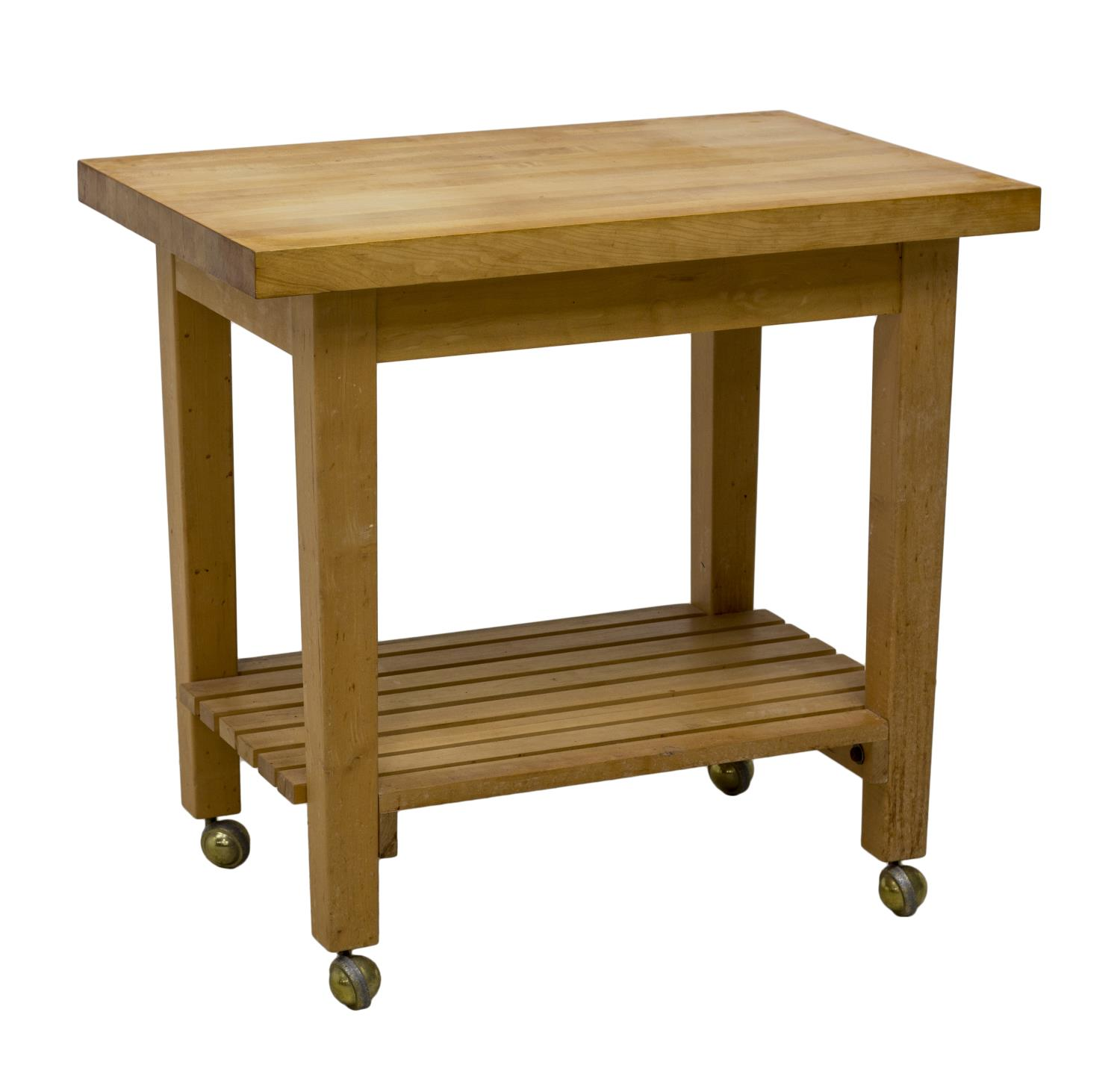 Kitchen Work Table Butcher Block : CONTEMPORARY BUTCHER BLOCK KITCHEN WORK TABLE - The Nassour Estate & More - Day One! - Austin ...