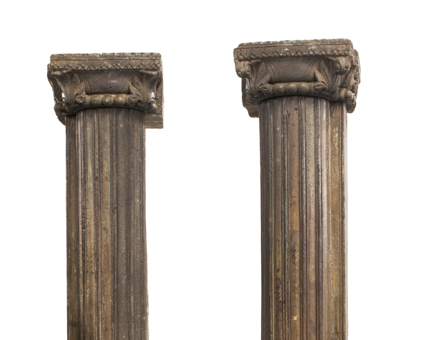 2 architectural carved wooden fluted columns exciting for Architectural wood columns