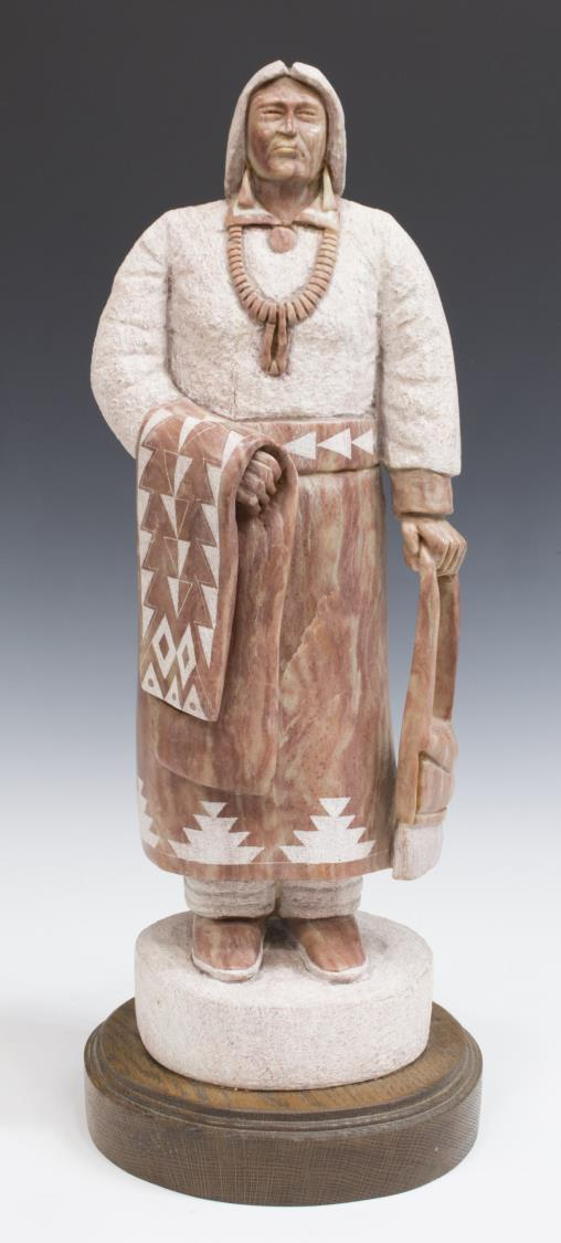 Mike toledo navajo stone sculpture indian woman