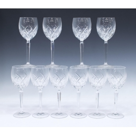 (10) WATERFORD CUT CRYTSTAL GOBLETS DRINKWARE