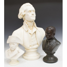 (3)COLLECTION OF BUST SCULPTURES, HISTORIC FIGURES