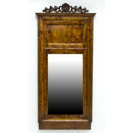 SWEDISH FLAME MAHOGANY TRUMEAU MIRROR