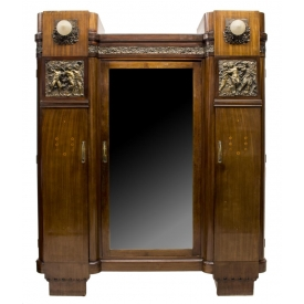 french art nouveau mahogany bronze armoire exciting auction event day two austin auction. Black Bedroom Furniture Sets. Home Design Ideas
