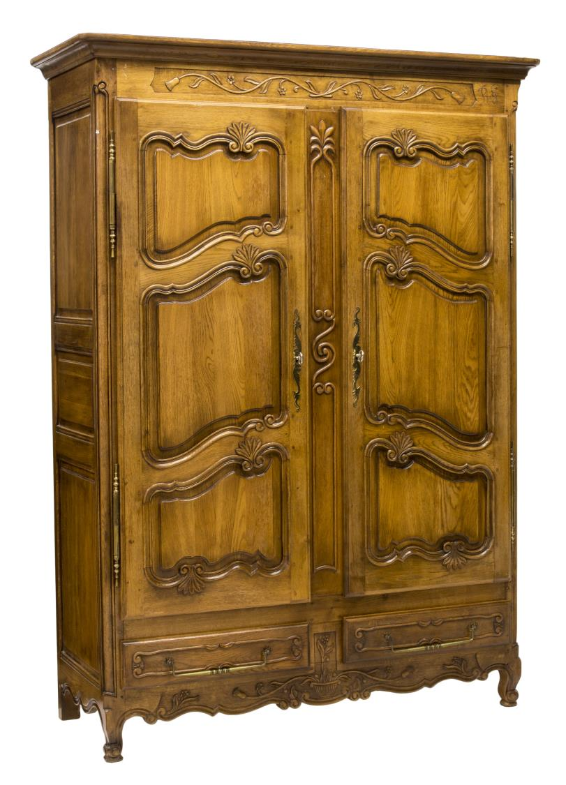 french louis xv style armoire exciting auction event. Black Bedroom Furniture Sets. Home Design Ideas