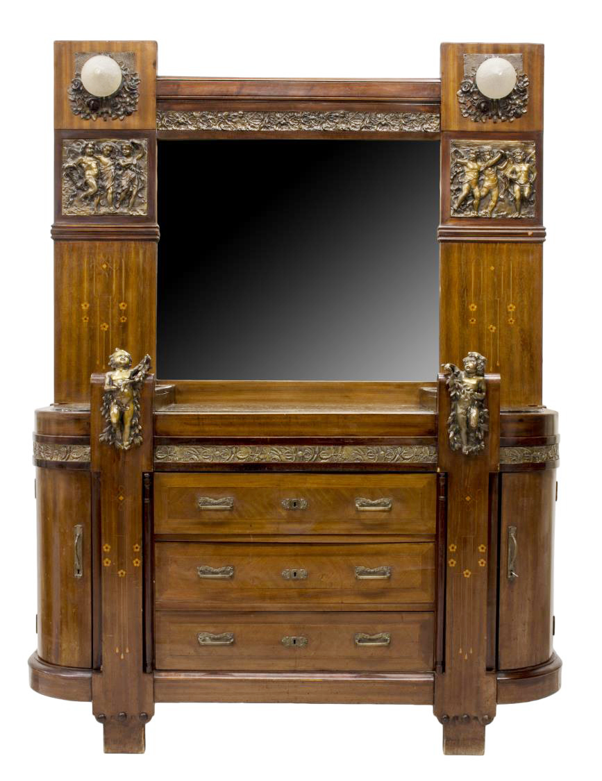 french art nouveau mahogany bronze commode exciting auction event day two austin auction. Black Bedroom Furniture Sets. Home Design Ideas