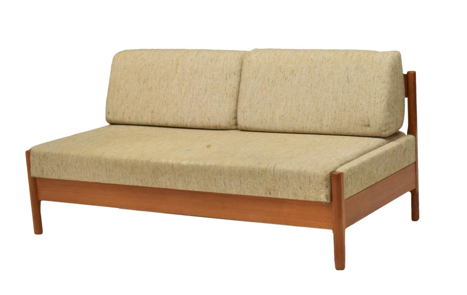 Danish mid century modern teak daybed sofa 1960 holiday for Mid century modern day bed