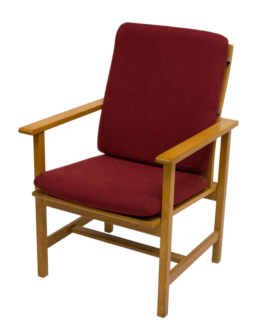 Borge Mogensen Designed Red Upholstery Armchair Holiday Estates Auction Day One Austin