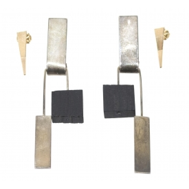 (4) BETTY COOKE MODERNIST STERLING & 14K EARRINGS