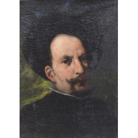 FRAMED OIL ON CANVAS, PORTRAIT OF A SPANIARD