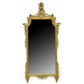 LARGE VENETIAN GILTWOOD WALL MIRROR