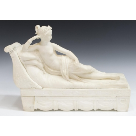 AFTER CONOVA ITALIAN ALABASTER & MARBLE SCULPTURE