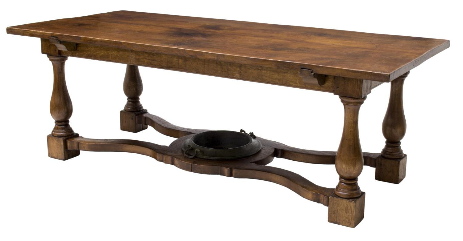 LARGE ANTIQUE ITALIAN RUSTIC OAK DINING TABLE The Crier  : 773 from www.austinauction.com size 1500 x 783 jpeg 76kB