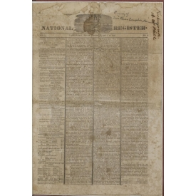 REPUBLIC OF TEXAS NEWSPAPER, JULY 1845