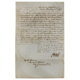1851 TEXAS GOVERNOR BELL JUDICIAL APPOINTMENT