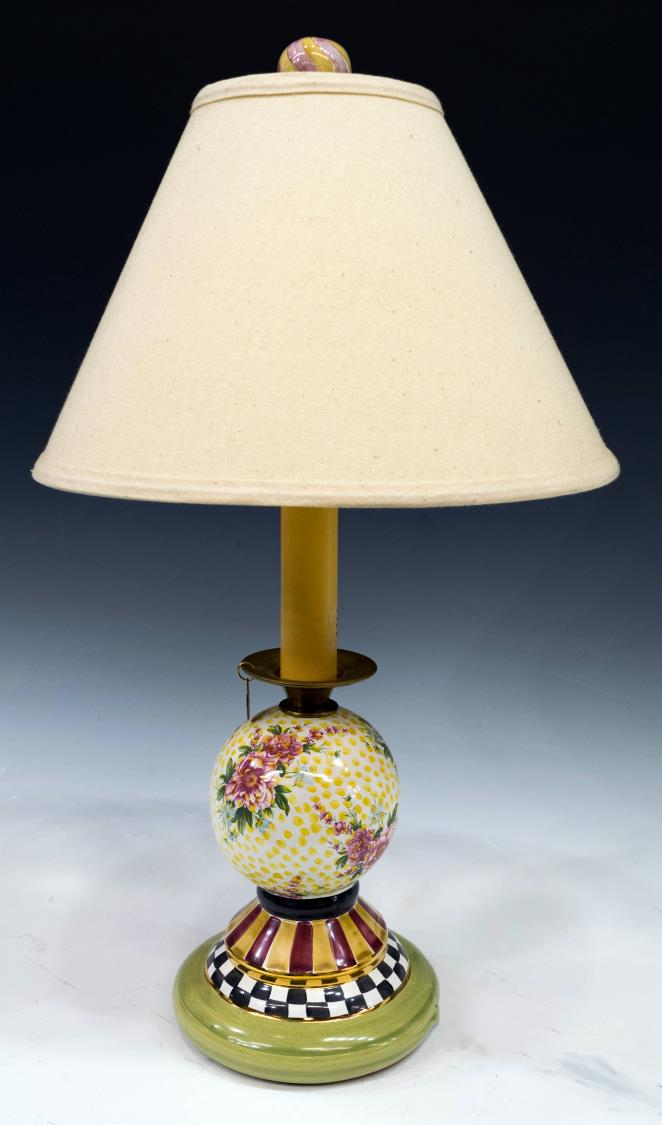Mackenzie Childs Porcelain Kelp Amp Urchin Lamp February