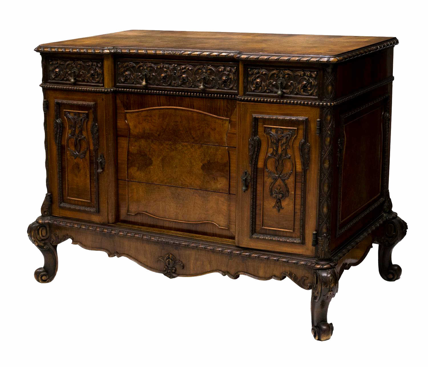 Italian baroque style walnut commode 19th c february estates auction day - Commode style baroque ...