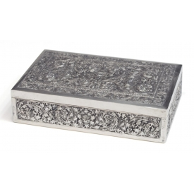 INDONESIAN .900 SILVER REPOUSSE LIDDED BOX