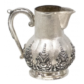 INDONESIAN .800 SILVER REPOUSSE YOGYA CREAMER