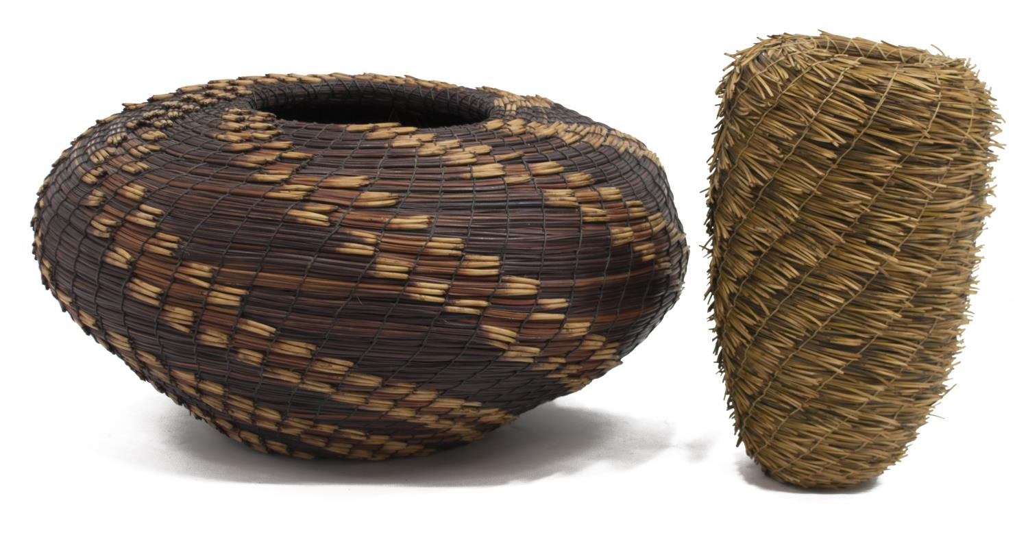Handmade Basket Companies : Handmade pine needle baskets major oil gas company