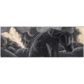 "MARK MILLOFF ""LUTHER DURING THE STORM' PASTEL WORK"