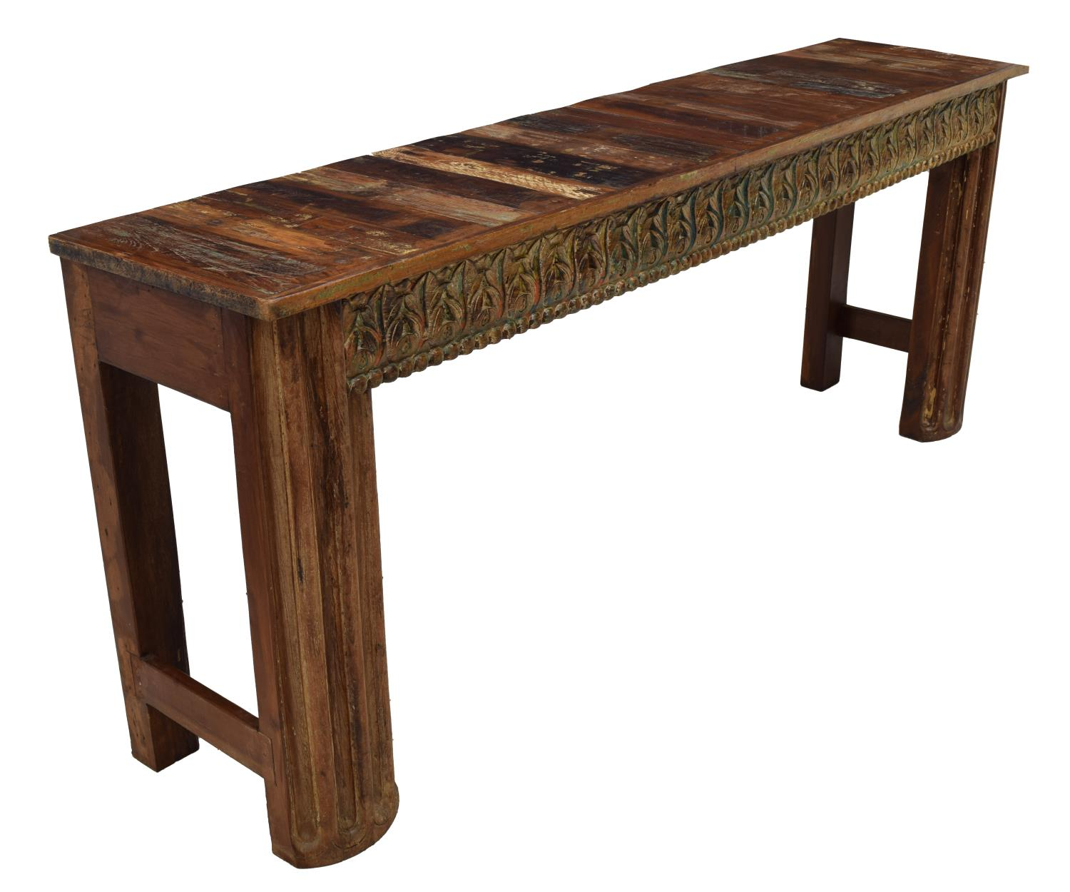 British colonial style teakwood console table luxury estates aucton day o - Console style colonial ...
