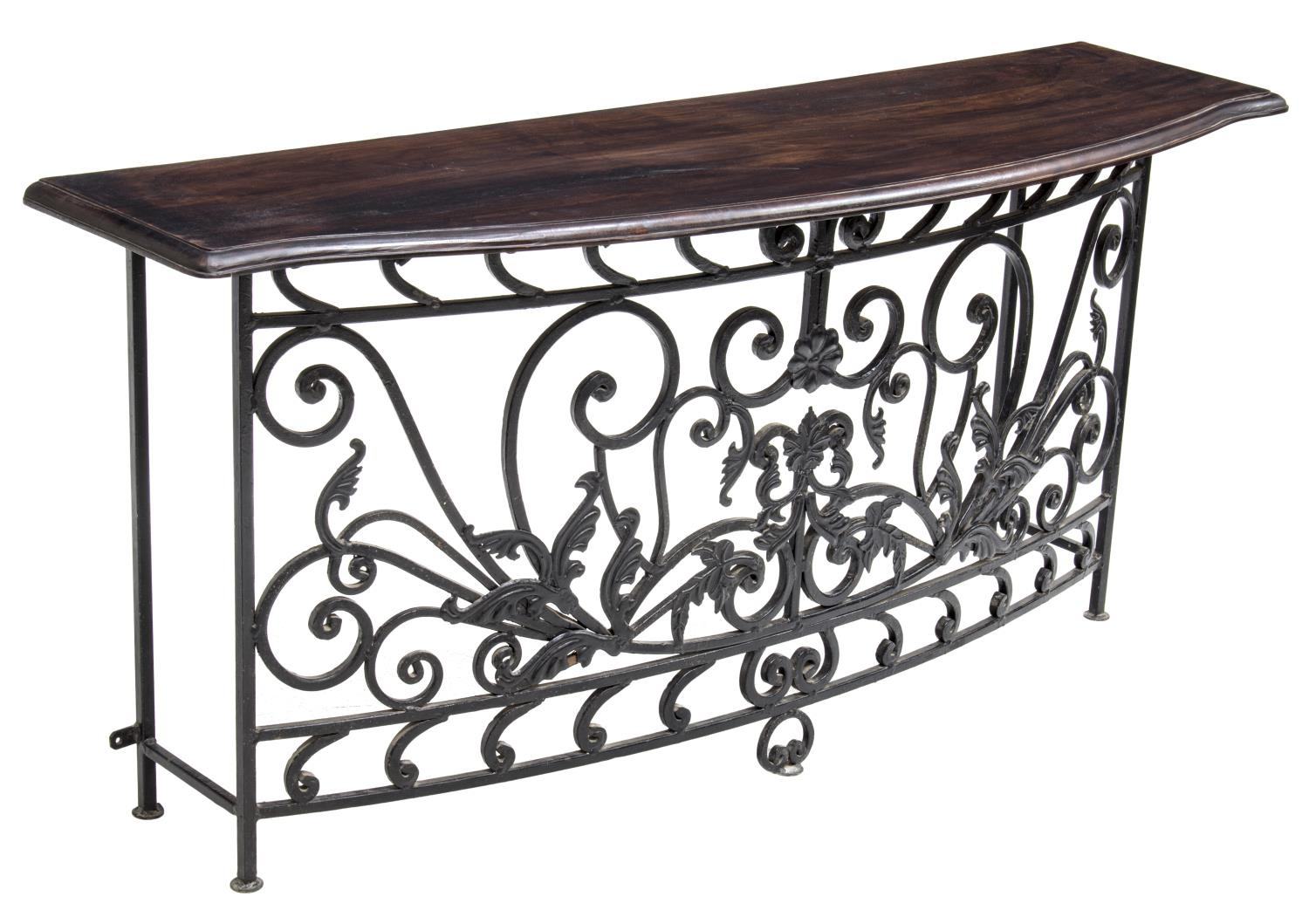French colonial style teak iron console table luxury estates aucton - Console style colonial ...
