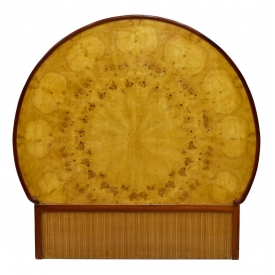 FRENCH ART DECO BIRDSEYE MAPLE SUNBURST HEADBOARD