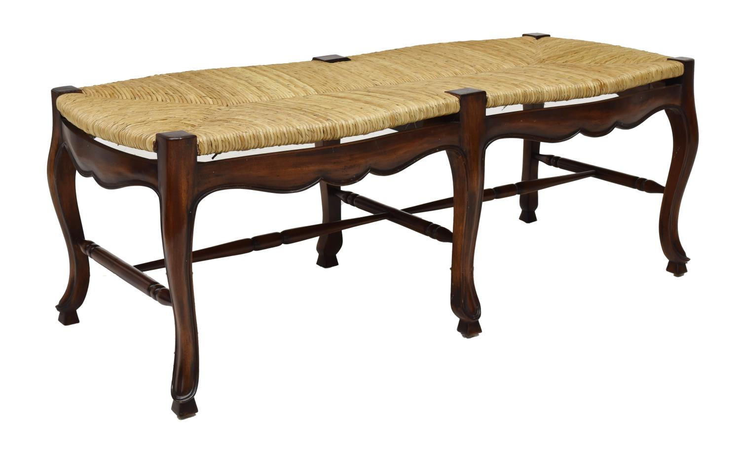 Rush Seat Bench Luxury Estates Aucton Day One Austin Auction Gallery