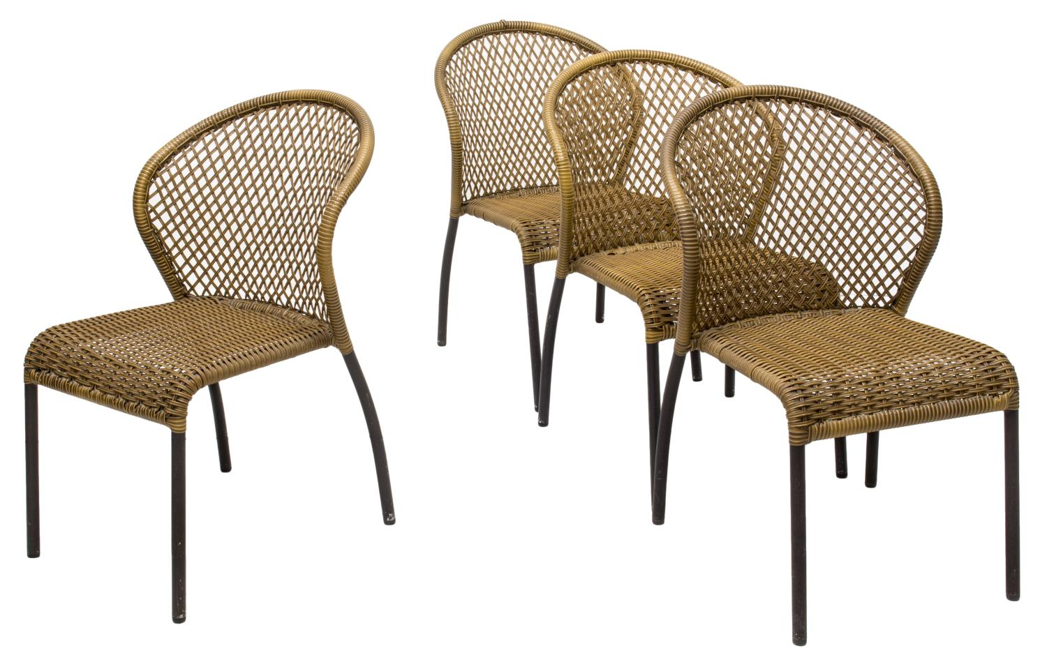 4 faux wicker patio chairs luxury estates aucton day