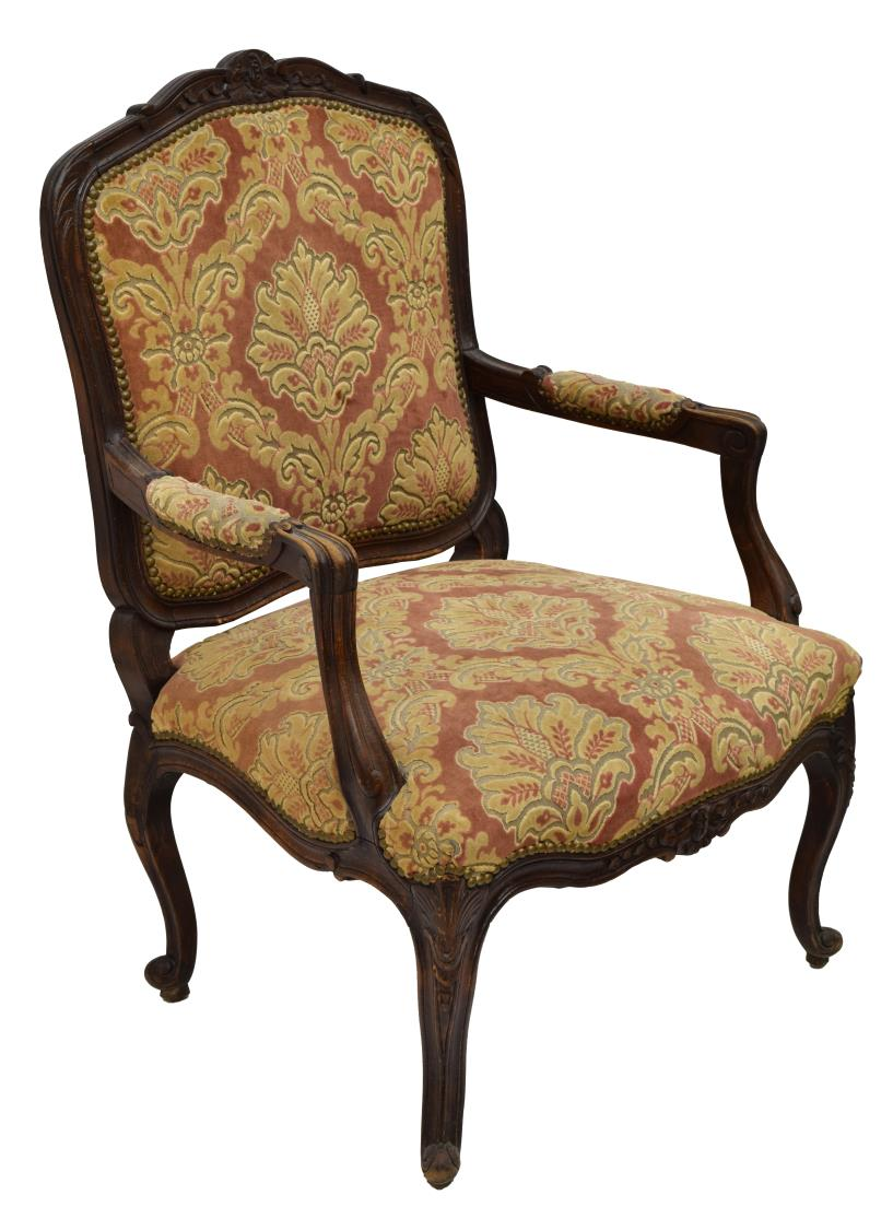 Louis Xv Style Upholstered Fauteuil Armchiar Luxury Estates Aucton Day Two Austin Auction