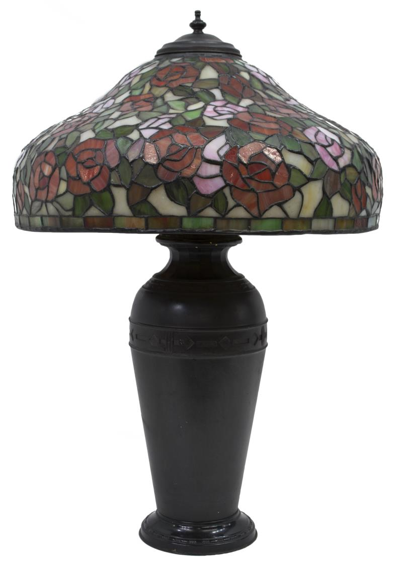 Tiffany style stained glass shade table lamp luxury for Lamp shades austin