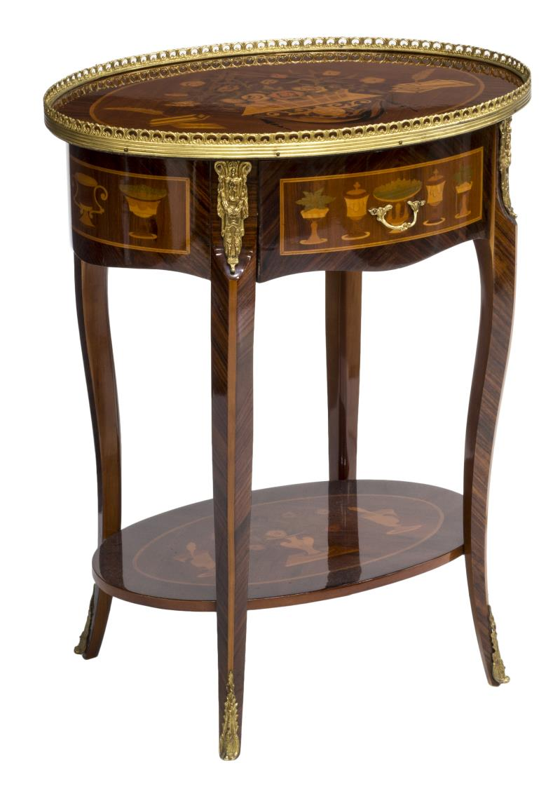Louis xv style side table luxury estates aucton day for Transmutation table 85 items
