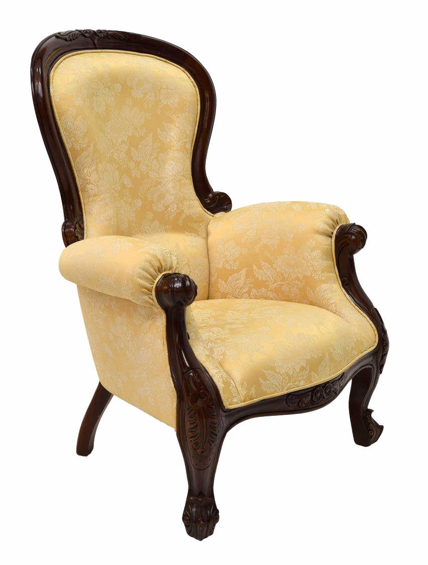 VICTORIAN STYLE ARM CHAIR - LUXURY ESTATES AUCTON - DAY ...