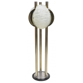 ITALIAN MODERN CHROMED STEEL STANDING FLOOR LAMP